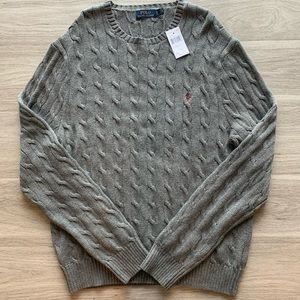 NEW Polo Ralph Lauren Cable Knit Cotton Sweater.